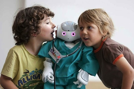 *** Local Caption *** ALIZ-E project, Nao, human-robot interaction, Robot